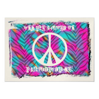 Peace Sign Party Invitations