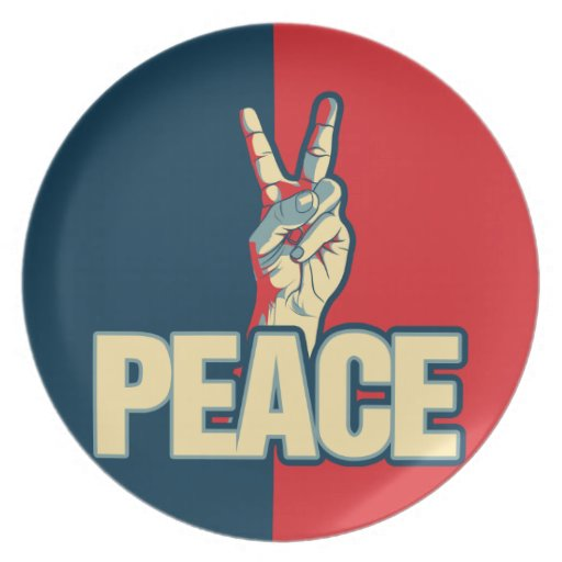 Peace Sign Party Plate