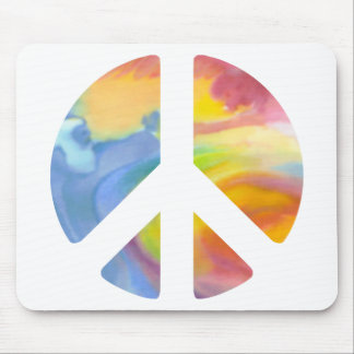 Peace Sign Pastel Mouse Pad