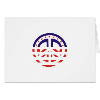 Peace Sign Patriotic Greeting Card