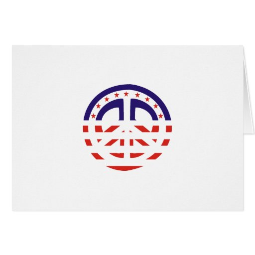 Peace Sign Patriotic Card