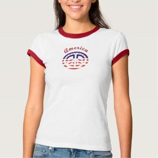 Peace Sign Patriotic T Shirt