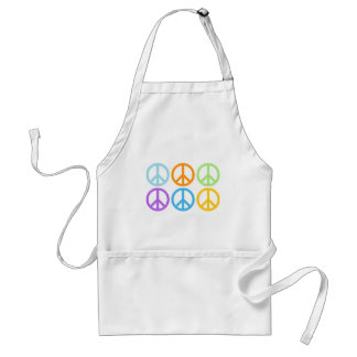 Peace Sign Pattern Adult Apron