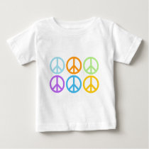 Peace Sign Pattern Baby T-Shirt