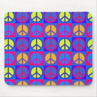 PEACE SIGN PATTERN MOUSE PAD