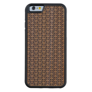 Peace Sign Pattern on Midnight Blue Carved® Cherry iPhone 6 Bumper