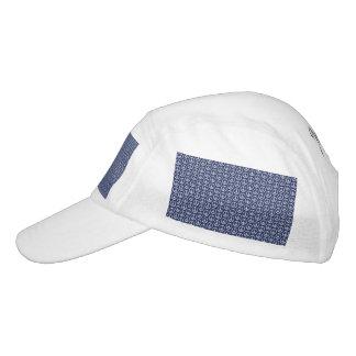 Peace Sign Pattern on Midnight Blue Headsweats Hat