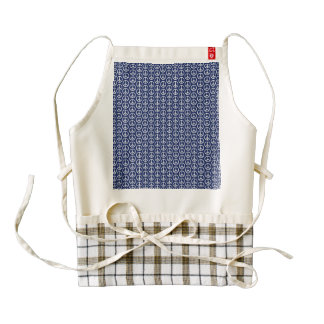 Peace Sign Pattern on Midnight Blue Zazzle HEART Apron