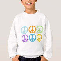 Peace Sign Pattern Sweatshirt
