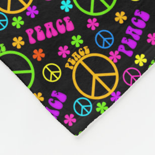 Peace Sign Blankets Throw Fleece Amp Sherpa Blankets Zazzle
