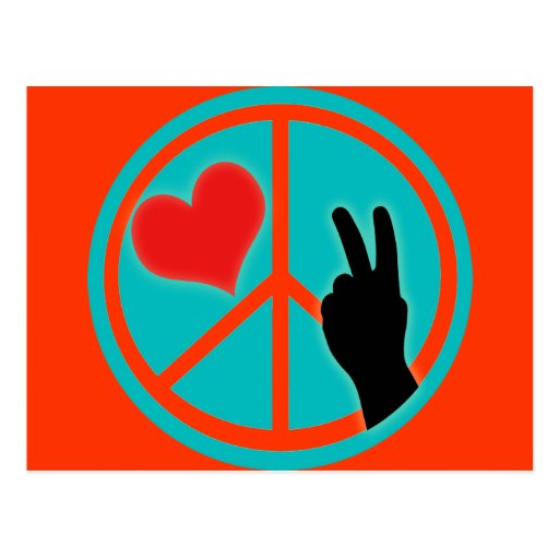 Peace Sign Peace and Love Postcards