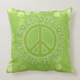 Peace Sign Peace Never Goes Out Of Style Throw Pillow