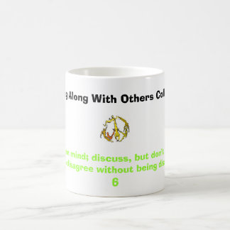 peace sign people, Keep an open mind; discuss, ... Classic White Coffee Mug