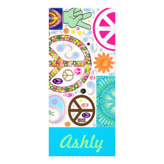 Peace Sign Personalized  Bookmarks Rack Card