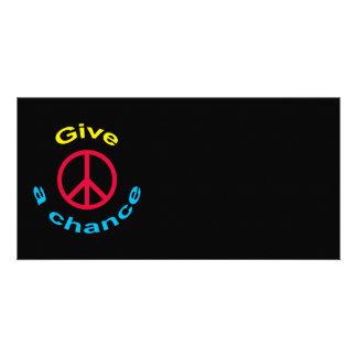 Peace Sign Photo Card