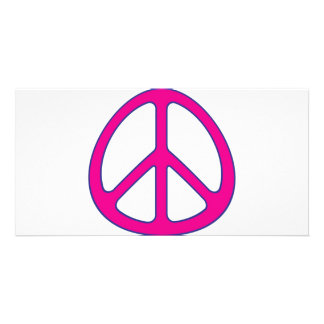 peace sign photo card template
