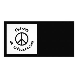 Peace Sign Custom Photo Card