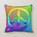 "Peace Sign Pillow<br><div class=""desc"">Peace Sign Pillow - Customize the back of the pillow with a color to match your special room! ( Add your own text )</div>"