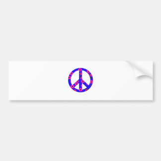 Peace Sign Pink Cherry Blossom Car Bumper Sticker