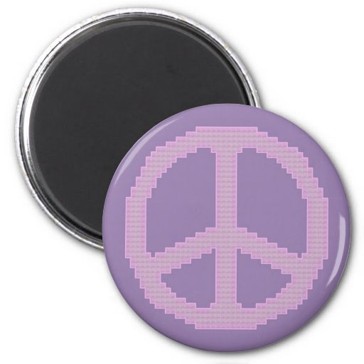 Peace Sign Pink Magnet