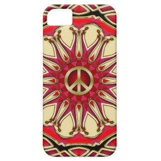 Peace Sign Pink Sun iPhone 5 Case