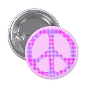 Peace sign polka dots pop art 1 inch round button