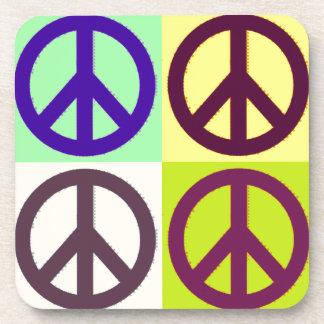 Peace Sign Pop Art Coaster