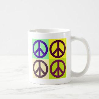 Peace Sign Pop Art Coffee Mug