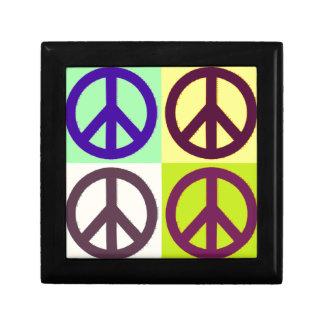 Peace Sign Pop Art Keepsake Box