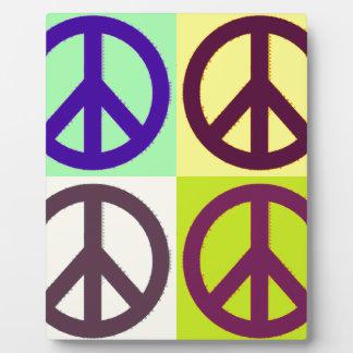 Peace Sign Pop Art Plaque