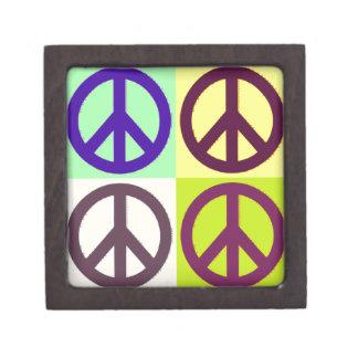 Peace Sign Pop Art Premium Gift Box