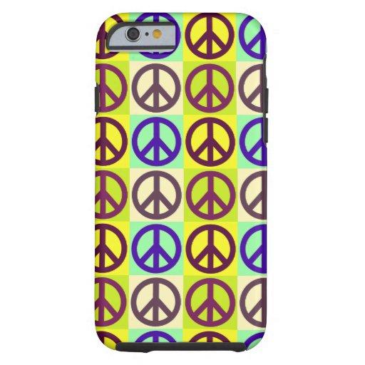 Peace Sign Pop Art Tough iPhone 6 Case