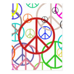 Peace sign post card