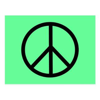peace sign postcard