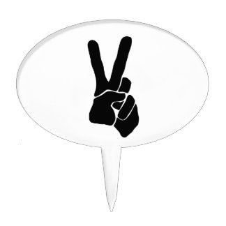 Peace Sign Product Line Gift Cake Topper