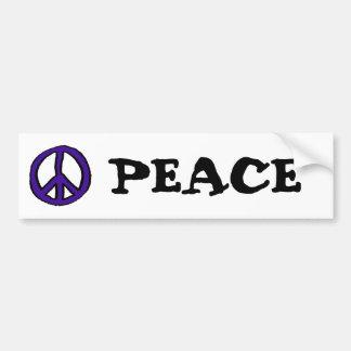 Peace Sign Purple - Bumper Stickers