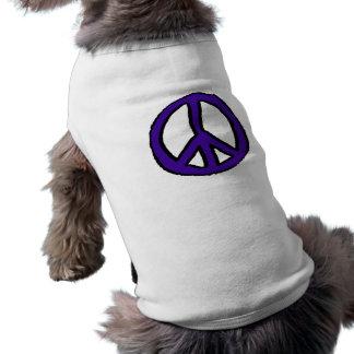 Peace Sign Purple - Doggie Tee Shirt