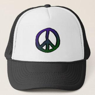 Peace Sign Purple Green Grad Trucker Hat