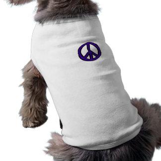Peace Sign Purple mini - Dog T-shirt