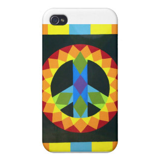 Peace Sign Quilt Block Covers For iPhone 4