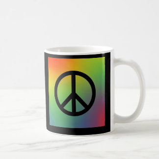 Peace Sign Rainbow Coffee Mug
