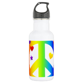 peace_sign_rainbow.png stainless steel water bottle