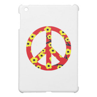 Peace Sign Red Yellow Cherry Blossom iPad Mini Cover