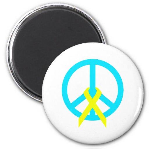 peace sign refrigerator magnet