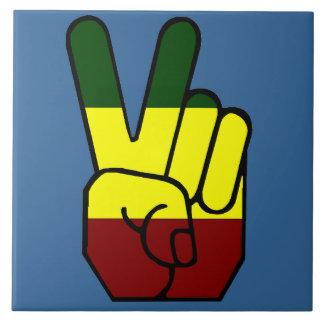 Peace Sign Reggae Style Tile