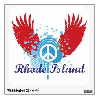 Peace Sign - Rhode Island Wall Stickers