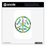 Peace Sign School iPod Touch 4G Decals