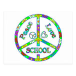 Peace Sign School Post Cards