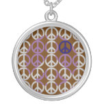 Peace Sign Shadow Art Necklace