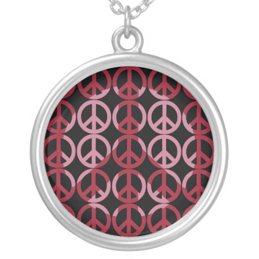 Peace Sign Shadow Art Personalized Necklace